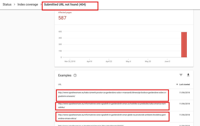 napake na spletni strani