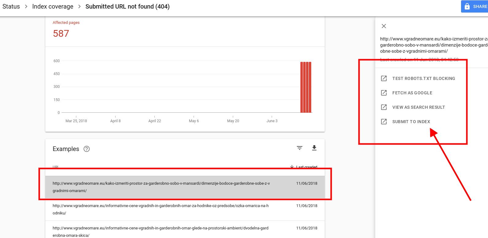 prikaz napak na spletni strani