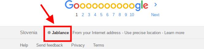 lokacija dostopa do googla