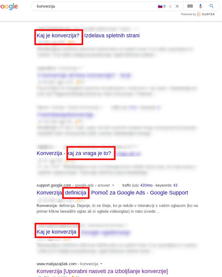 konverzija spletne strani