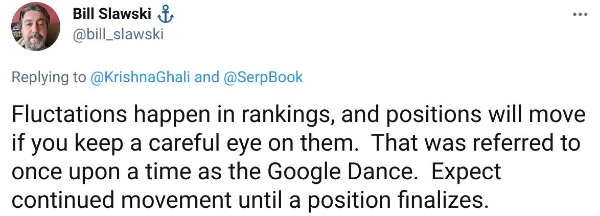 google fluktuacije